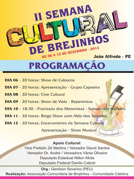 Cartaz - Festival Cultural