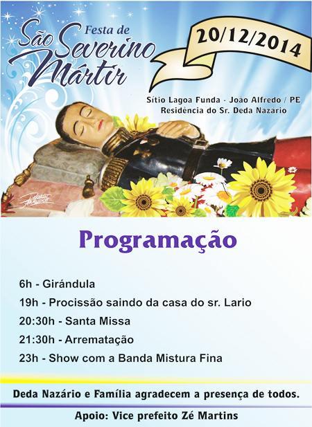 Panfleto - Festa de São Severino