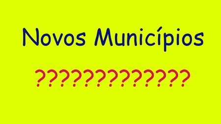 Novos-Municípios