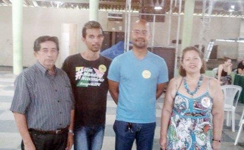 Sebastião Mendes, Luís Otávio, Edilson Silva e Gorete Arruda