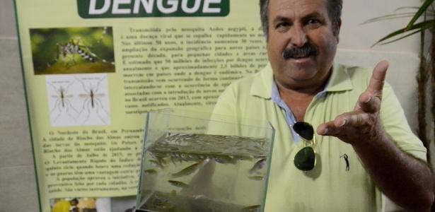 Guarus são usados em combate de larvas de Aedes Aegypti em Riacho das Almas (PE), segundo Dilson Pinangé