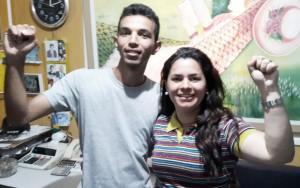 Luiz Otávio e Jaqueline Mendes