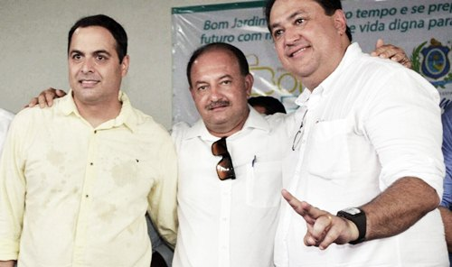 Paulo Câmara, Adenilson Pereira e Sebastião Oliveira