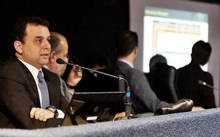 03/06/2015. Credito.  Rinaldo Marques/Divulgacao. Secretario da Fazenda, Marcio Stefanni, na Comissão de Financas da Assembleia Legislativa,