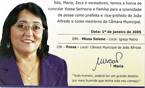 Convite- Maria