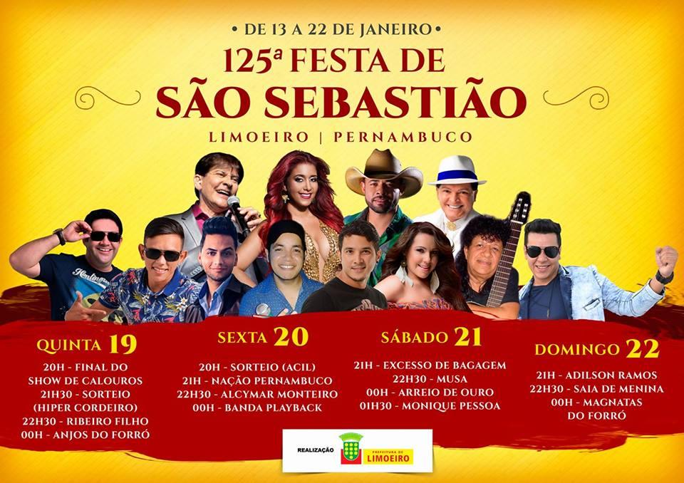 Começa a 125ª Festa de São Sebastião de LimoeiroPE…  Dimas